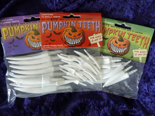 3 Pack - Fang Pumpkin Teeth