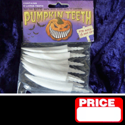 Fang Style Pumpkin Teeth