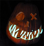 Pumpkin with glow in the dark teeth thumb